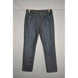 TALBOTS Signature Fit Dark Wash Slim Ankle Jean